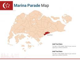 Singapore States Marina Parade Map Powerpoint Presentation PPT Template