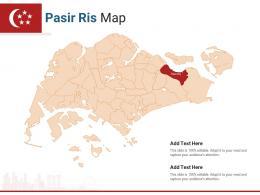 Singapore States Pasir Ris Map Powerpoint Presentation PPT Template