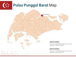 Singapore States Pulau Punggol Barat Map Powerpoint Presentation PPT Template