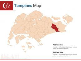Singapore States Tampines Map Powerpoint Presentation PPT Template