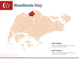 Singapore States Woodlands Map Powerpoint Presentation PPT Template