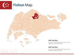 Singapore States Yishun Map Powerpoint Presentation PPT Template