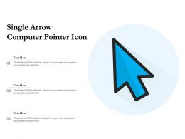 Single Arrow Computer Pointer Icon
