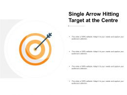 Single Arrow Hitting Target At The Centre