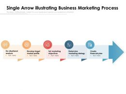 Single Arrow Illustrating Business Marketing Process