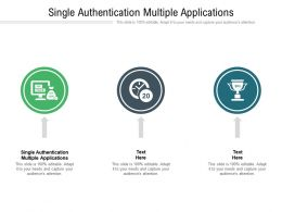 Single Authentication Multiple Applications Ppt Powerpoint Presentation Outline Format Cpb