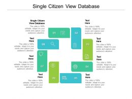 Single Citizen View Database Ppt Powerpoint Presentation Inspiration Graphic Images Cpb