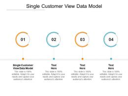 Single Customer View Data Model Ppt Powerpoint Presentation Slides Structure Cpb