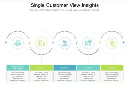 Single Customer View Insights Ppt Powerpoint Presentation Styles Master Slide Cpb