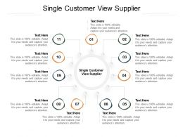 Single Customer View Supplier Ppt Powerpoint Presentation Layouts Infographic Template Cpb