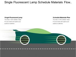 Single Fluorescent Lamp Schedule Materials Flow Building Materials
