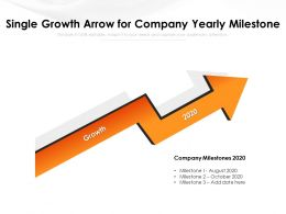 Single Growth Arrow For Company Yearly Milestone