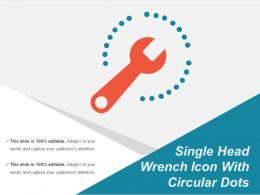 Single Head Wrench Icon With Circular Dots