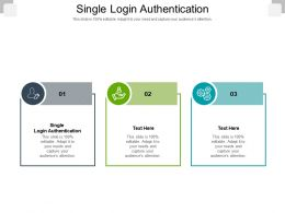 Single Login Authentication Ppt Powerpoint Presentation Slides Guidelines Cpb