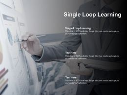 Single Loop Learning Ppt Powerpoint Presentation Icon Layout Cpb