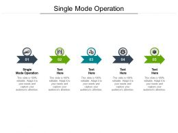 Single Mode Operation Ppt Powerpoint Presentation Outline Guide Cpb