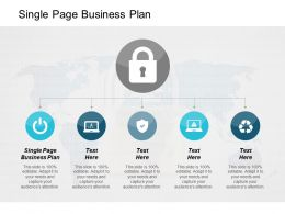 Single Page Business Plan Ppt Powerpoint Presentation Styles Graphic Images Cpb