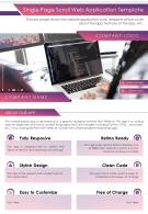 Single Page Scroll Web Application Template Presentation Report PPT PDF Document