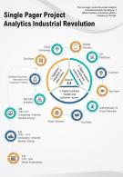 Single Pager Project Analytics Industrial Revolution Presentation Report Infographic PPT PDF Document