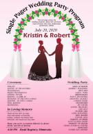 Single Pager Wedding Party Program Presentation Report Infographic PPT PDF Document