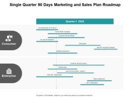 Single Quarter 90 Days Marketing And Sales Plan Roadmap