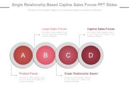 Single Relationship Based Captive Sales Forces Ppt Slides