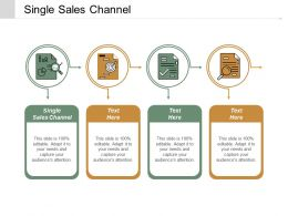 Single Sales Channel Ppt Powerpoint Presentation Icon Slide Download Cpb
