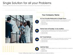 Single Solution For All Your Problems Alternative Financing Pitch Deck Ppt Template