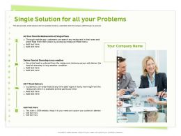 Single Solution For All Your Problems Delivery Person Ppt Powerpoint Presentation Ideas Files