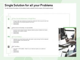 Single Solution For All Your Problems Early Morning Ppt Powerpoint Presentation Summary Influencers