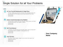Single Solution For All Your Problems Equity Crowdsourcing Pitch Deck Ppt Outline Example Topics