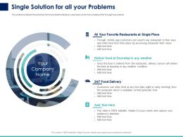 Single Solution For All Your Problems Ppt Powerpoint Presentation Gallery Graphics