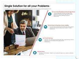 Single Solution For All Your Problems Search Any Ppt Powerpoint Presentation Layout