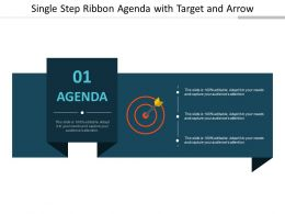 Single Step Ribbon Agenda With Target And Arrow
