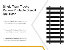 Single Train Tracks Pattern Printable Stencil Rail Road