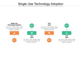 Single Use Technology Adoption Ppt Powerpoint Presentation Portfolio Slides Cpb