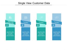 Single View Customer Data Ppt Powerpoint Presentation Show Sample Cpb