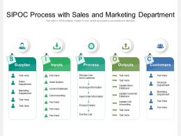 SIPOC Process With Sales And Marketing Department