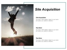 Site Acquisition Ppt Powerpoint Presentation Inspiration Example Topics Cpb