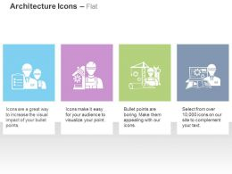 Site Engineer With Checklist Settings Tools Building Design Site Map Ppt Icons Graphics