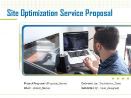 Site Optimization Service Proposal Powerpoint Presentation Slides