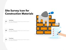 Site Survey Icon For Construction Materials