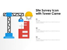 Site Survey Icon With Tower Carne