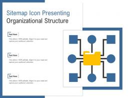 Sitemap Icon Presenting Organizational Structure