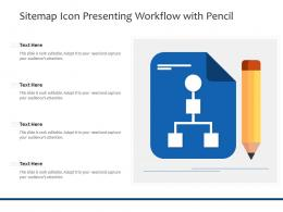 Sitemap Icon Presenting Workflow With Pencil