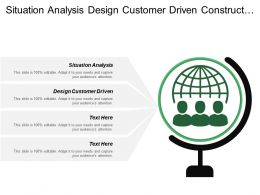 Situation Analysis Design Customer Driven Construct Marketing Program
