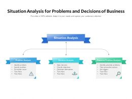Situation Analysis For Problems And Decisions Of Business