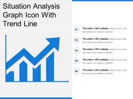 Situation Analysis Graph Icon With Trend Line