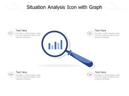 Situation Analysis Icon With Graph