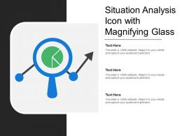 Situation Analysis Icon With Magnifying Glass